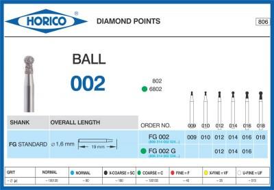 Freza Diamantata Horico FG 002 G